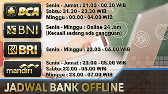 jadwal bank offline casinosport88
